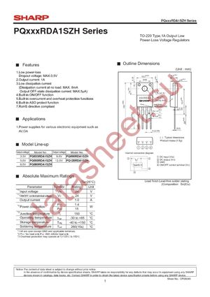 PQ050RDA1SZH даташит Sharp Microelectronics бесплатно ...: http://datasheet.su/datasheet/Sharp%20Microelectronics/PQ050RDA1SZH