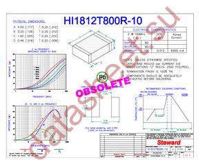 HI1812T800R-10 datasheet скачать даташит