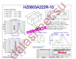 HZ0603A222R-10 datasheet скачать даташит