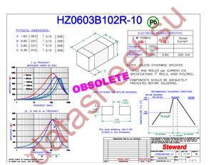 HZ0603B102R-10 datasheet скачать даташит