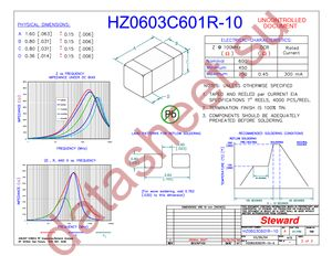 HZ0603C601R-10 datasheet скачать даташит