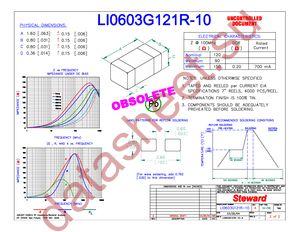 LI0603G121R-10 datasheet скачать даташит