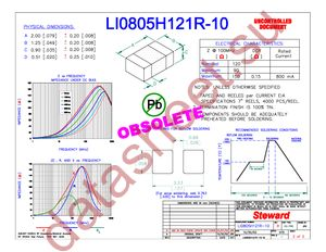 LI0805H121R-10 datasheet скачать даташит