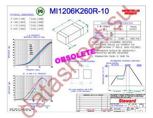 MI1206K260R-10 datasheet скачать даташит