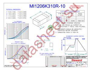 MI1206K310R-10 datasheet скачать даташит