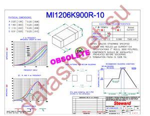 MI1206K900R-10 datasheet скачать даташит