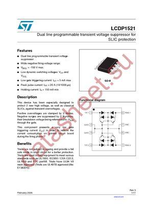 LCDP1521RL datasheet скачать даташит