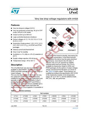 LF33ABV datasheet скачать даташит