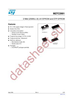 M27C2001-10B1 datasheet скачать даташит