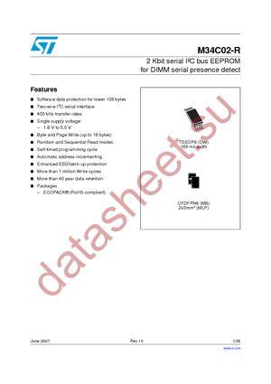 M34C02-WDW6T datasheet скачать даташит