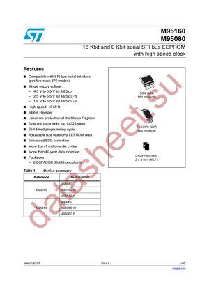 M95160-RMN6TP datasheet скачать даташит