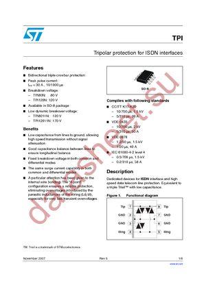 TPI8011NRL datasheet скачать даташит