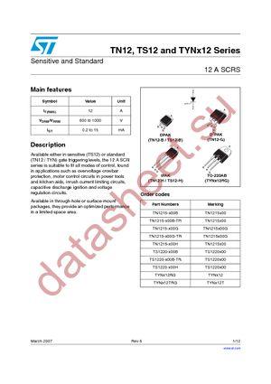 TS1220-600B datasheet скачать даташит