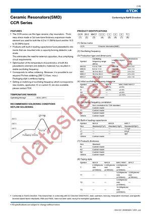 CCR10.0MXC8T datasheet скачать даташит