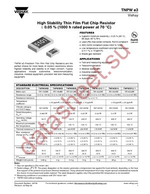TNPW06035K76BEEN datasheet скачать даташит