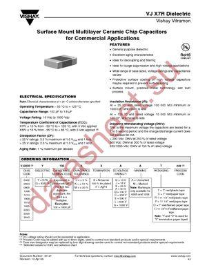 VJ1206Y104KXCAT datasheet скачать даташит