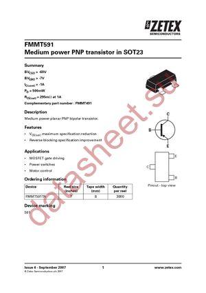 FMMT591ATA datasheet скачать даташит