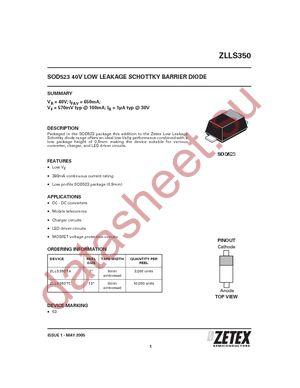 ZLLS350TA datasheet скачать даташит