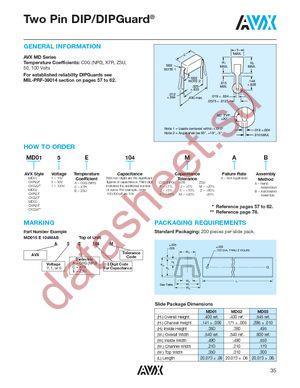 MD015A332KAB datasheet скачать даташит