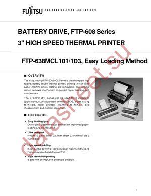 FTP-638MCL103 datasheet скачать даташит