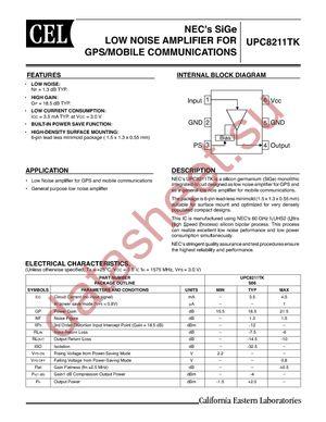 UPC8211TK-E2-A datasheet скачать даташит