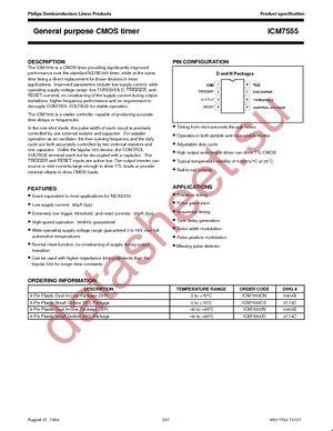 ICM7555ID/01-T datasheet скачать даташит