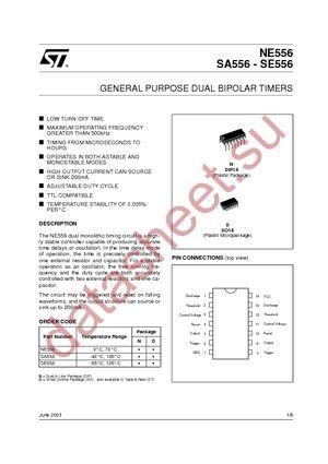 NE556N datasheet скачать даташит