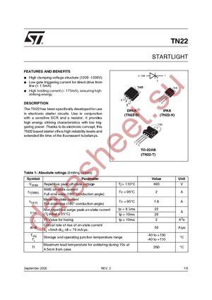 TN22-1500B-TR datasheet скачать даташит
