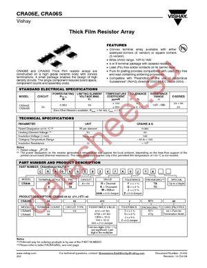 CRA06S083330RJTA datasheet скачать даташит