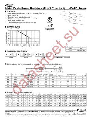 281-270-RC datasheet скачать даташит